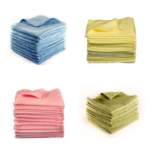 CarShineFactory krpa iz mikrovlaken modra/roza/rumena/zelena/oranžna/črna 280GSM 40x40 cm