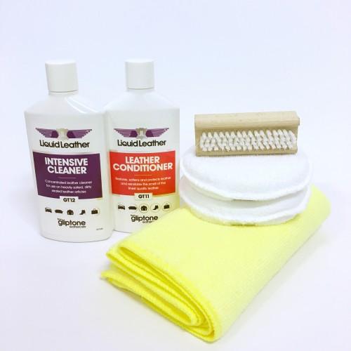 Gliptone komplet za čiščenje in zaščito usnja