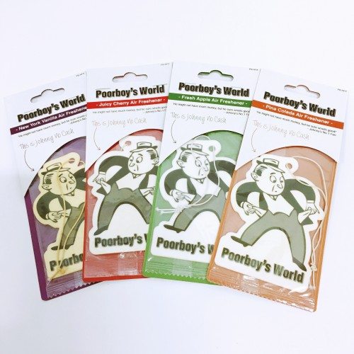 Poorboy's World hanging air fresheners Quartet
