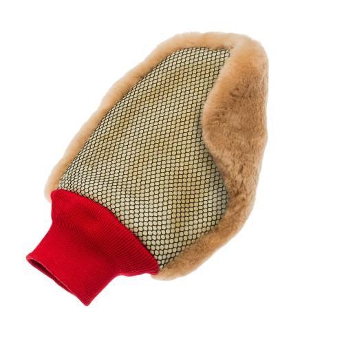 Carshinefactory super soft rokavica iz merino volne z mrežico