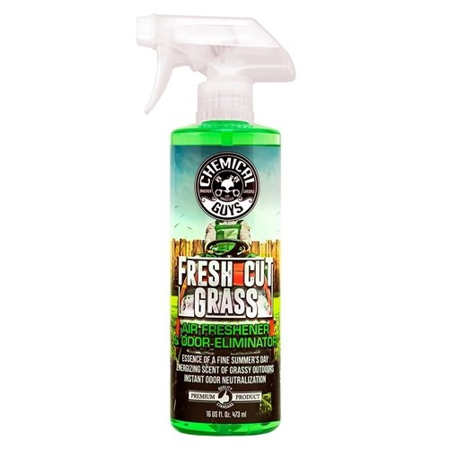 Chemical Guys Fresh Cut Grass Scent Premium Air Freshener And Odor Eliminator  473 ml